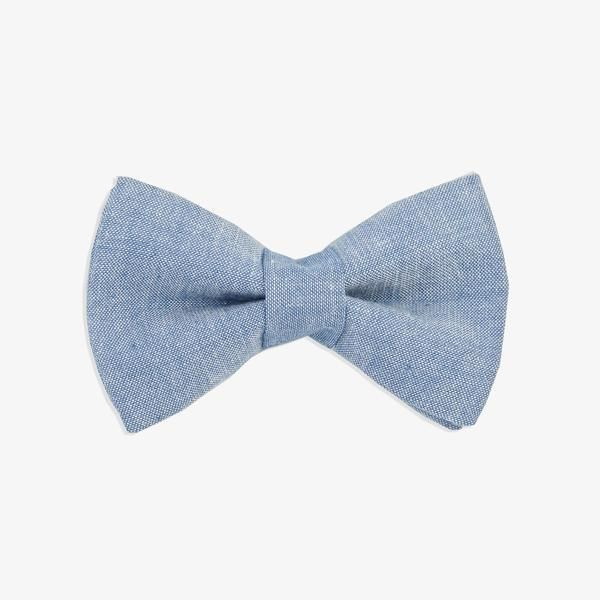 Dog Bow Tie Chambray