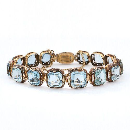 Victorian Aquamarine Gold Bracelet