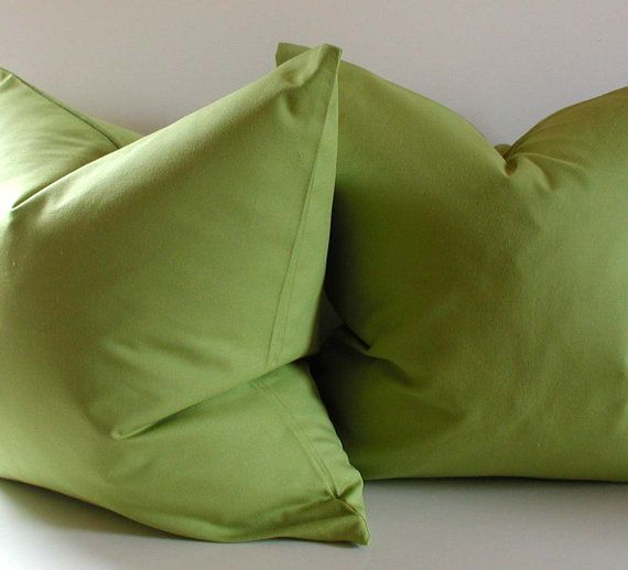 Green Decorative Pillows for our woodsy inspired living room