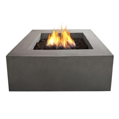 Real Flame Baltic 36 In Square Natural Gas Outdoor Fire Pit In Glacier Gray T9620ng Glg Gas Fire Table Outdoor Fire Table Gas Firepit
