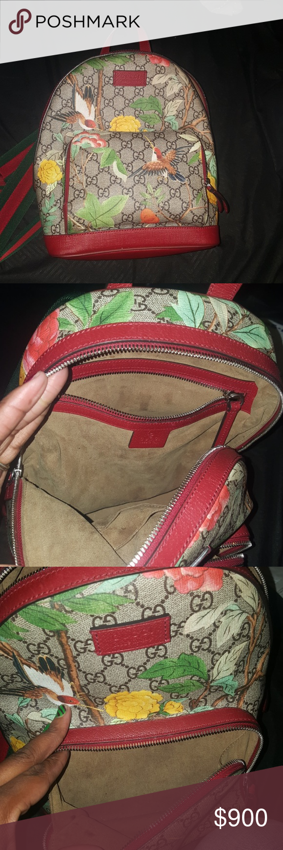 648bc277bd5 Gucci Tian GG Supreme Backpack Woman s Gucci backpack with floral pattern