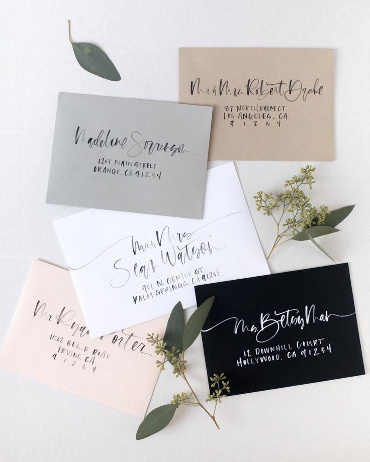Wedding Calligraphy DIY | Addressing envelopes wedding ...