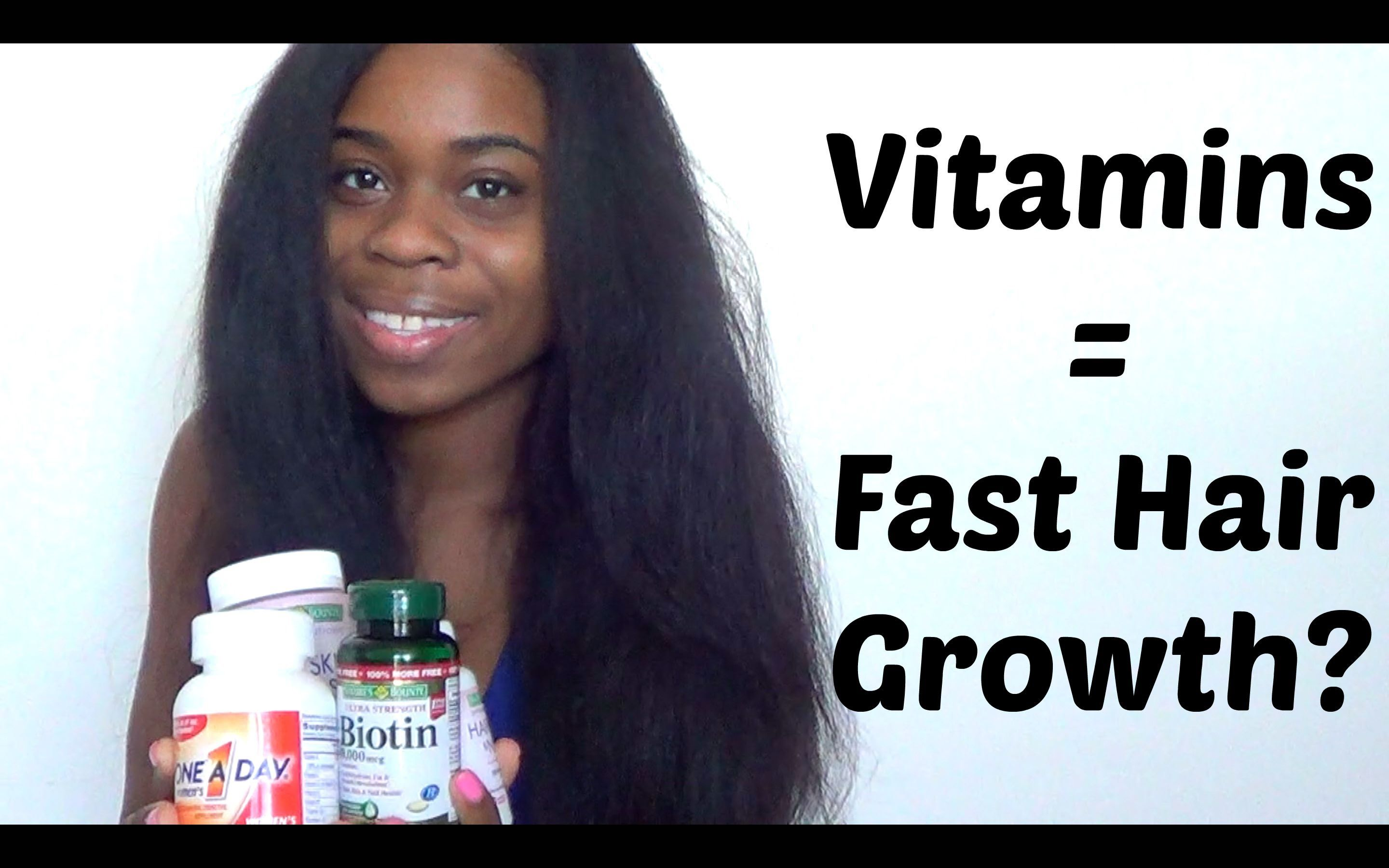 Vitamins For SUPER Fast Hair Growth RESULTS  Hair grows fast