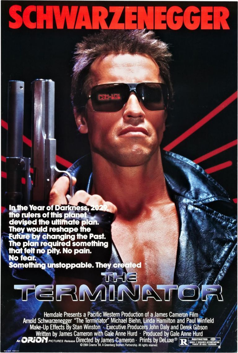 The Best '80s Movies Ever Made is part of Terminator movies, Terminator 1984, 80s movie posters, Terminator, 80s movies, Schwarzenegger - An official ranking of the decade's standout films