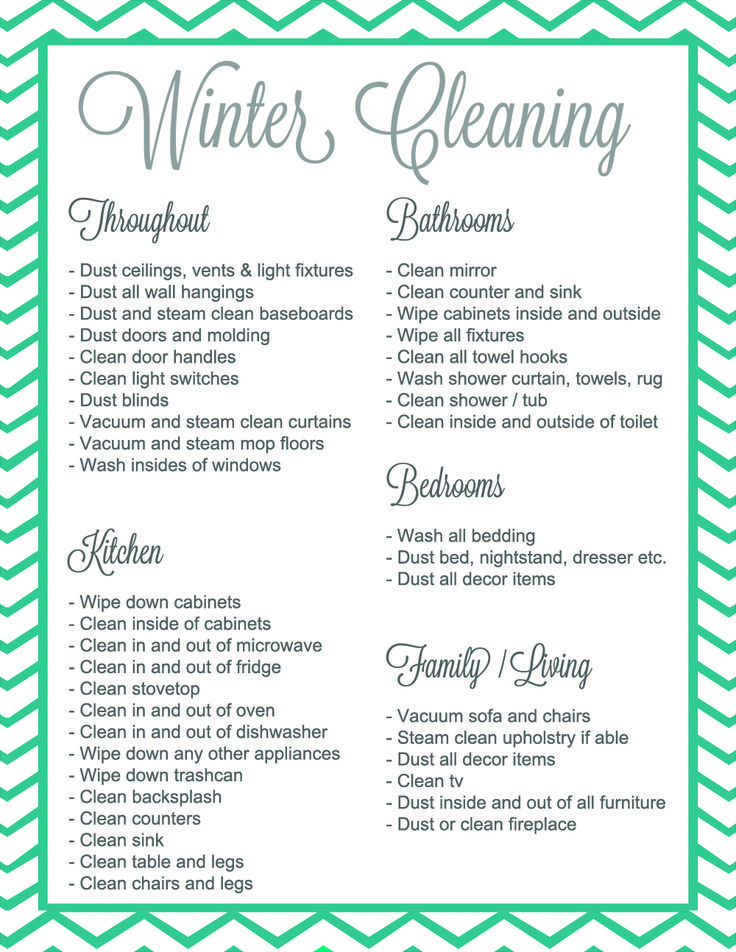 Winter Cleaning ItS A Thing  Giveaway  Free Printable