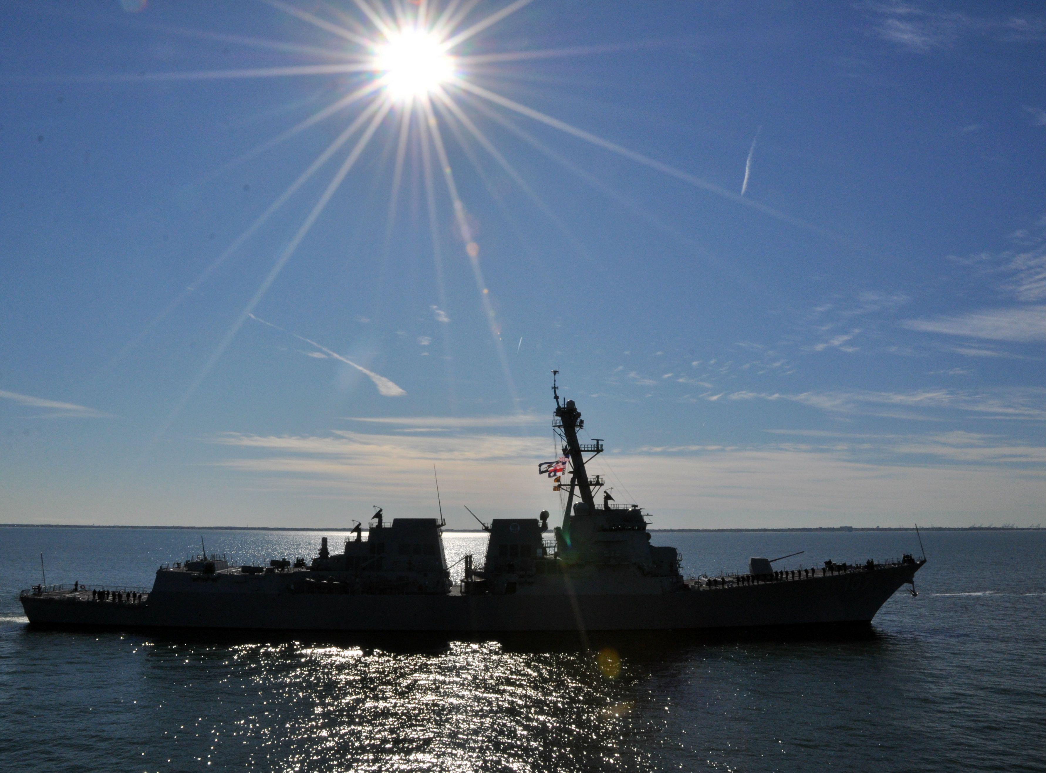 """USS Gravely DDG-107 Norfolk, VA December 2, 2011- 5 x 7"""" Photo Card"""