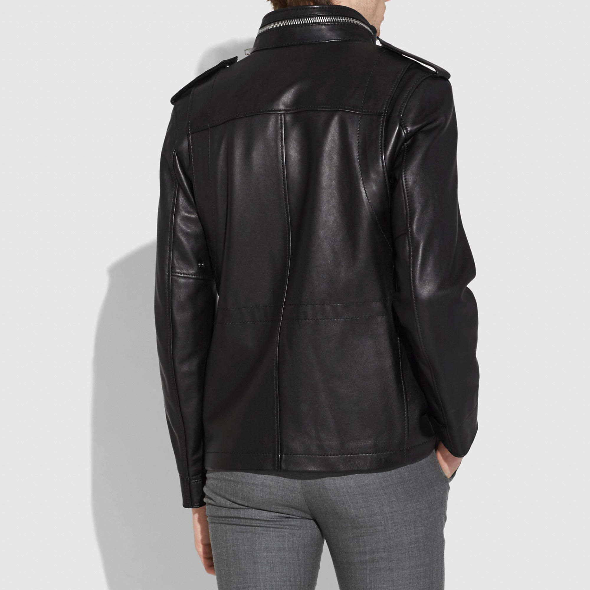 Burnished Leather M65 Jacket M65 jacket, Jackets