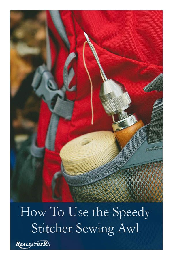 Learn how to use a sewing awl for hand sewing projects