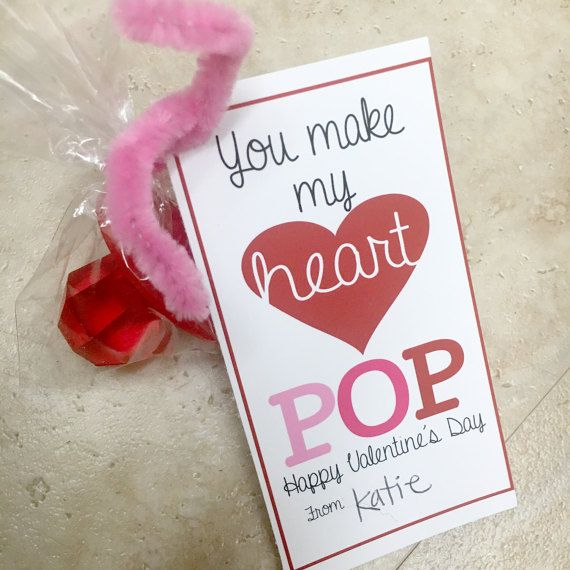 photo regarding You Make My Heart Pop Valentine Printable identified as On your own create my center POP Valentines printable via