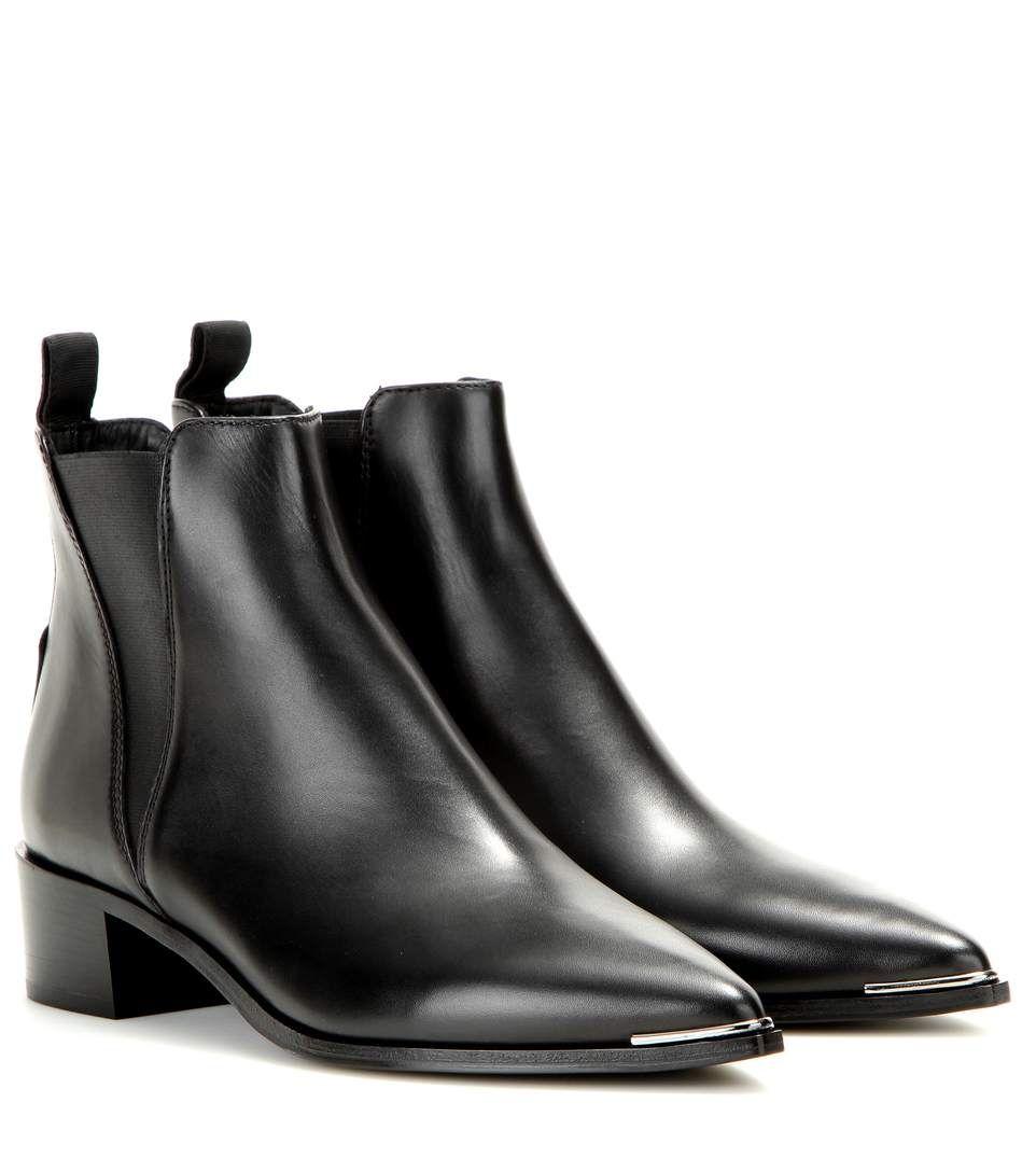 acne black jensen boots