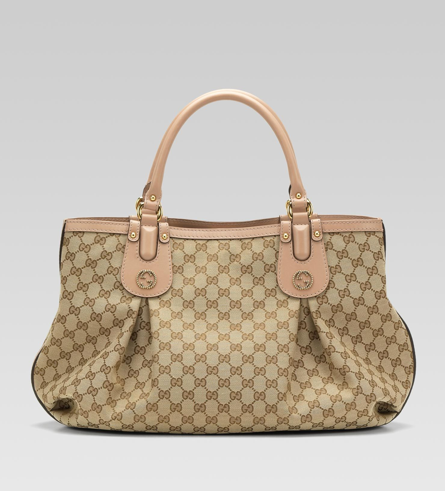 scarlett studded interlocking G tote | gucci