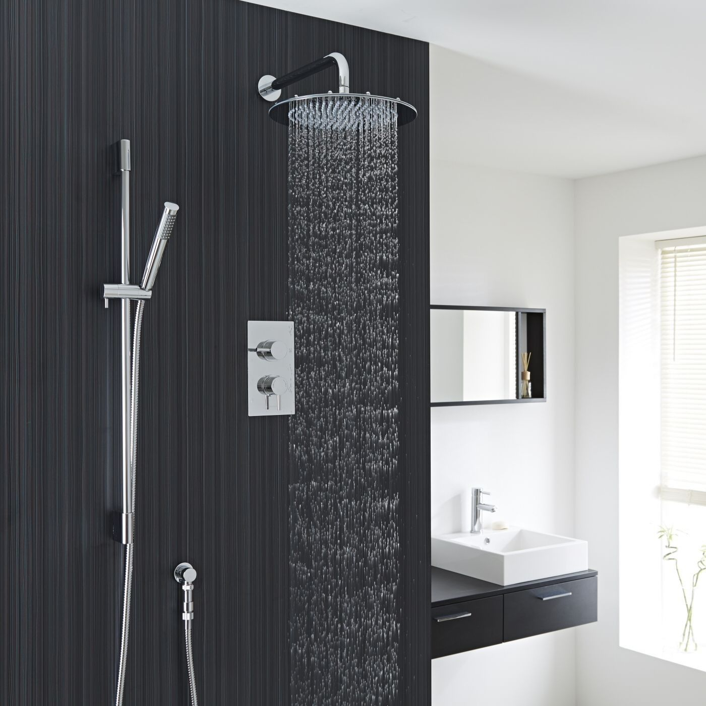 This stunning shower by Valquest will add a designer touch to any ...