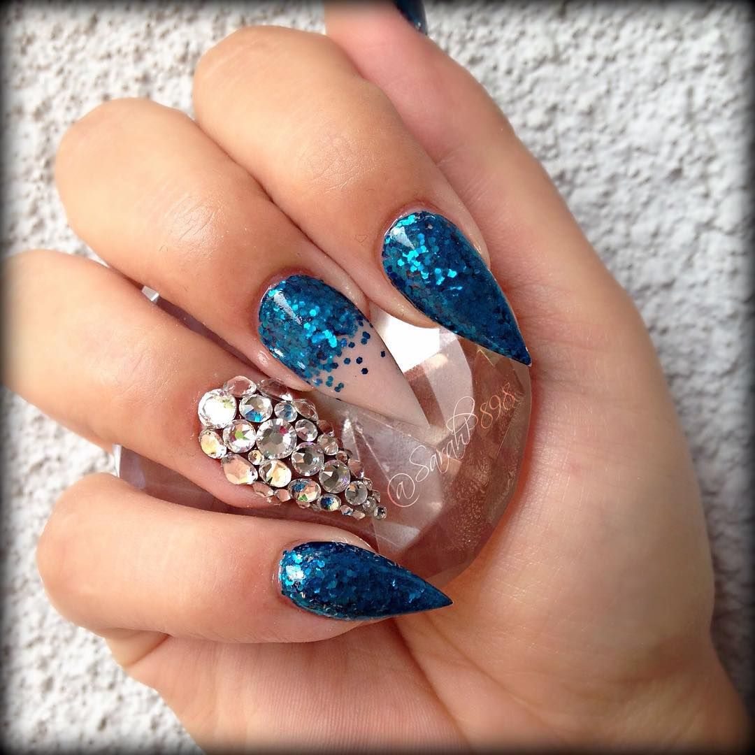 "How's this for ""something blue""! Nails by Sarahp898! Find them on IG..."