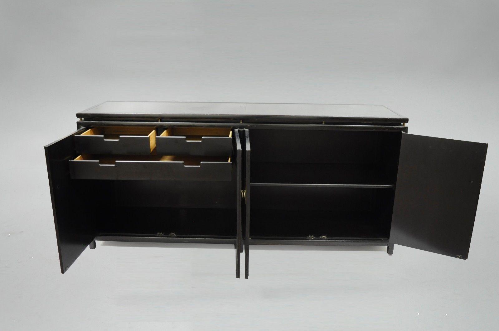 Baker Michael Taylor Oriental Black Sideboard Credenza Cabinet