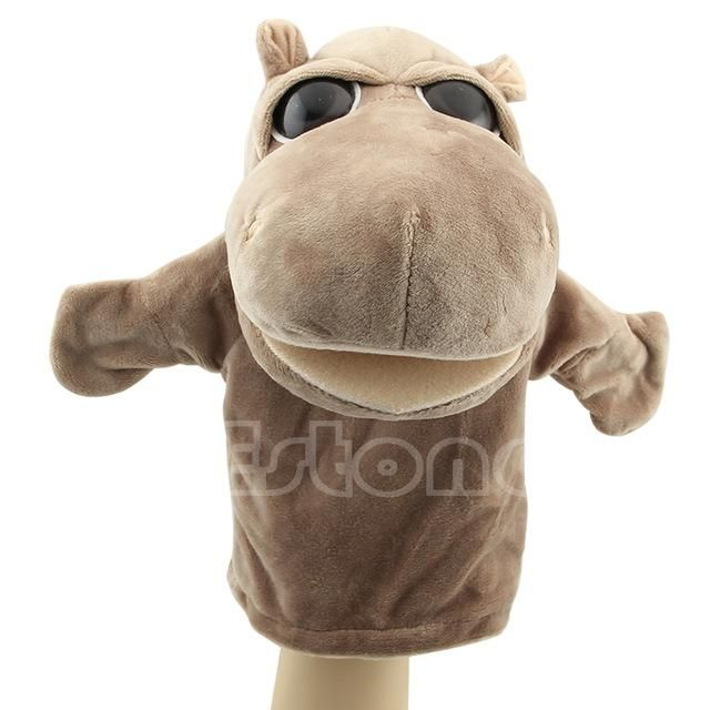 Child Kids Cute Plush Velour Animals Hand Puppets Chic Designs Learning Aid Toys Dolls