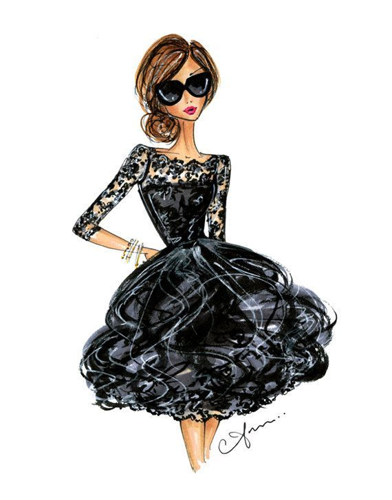 Photo of Fashion Illustration Print, Oscar de la Renta, 8×10″ – #8×10 #de #fashion #illus…