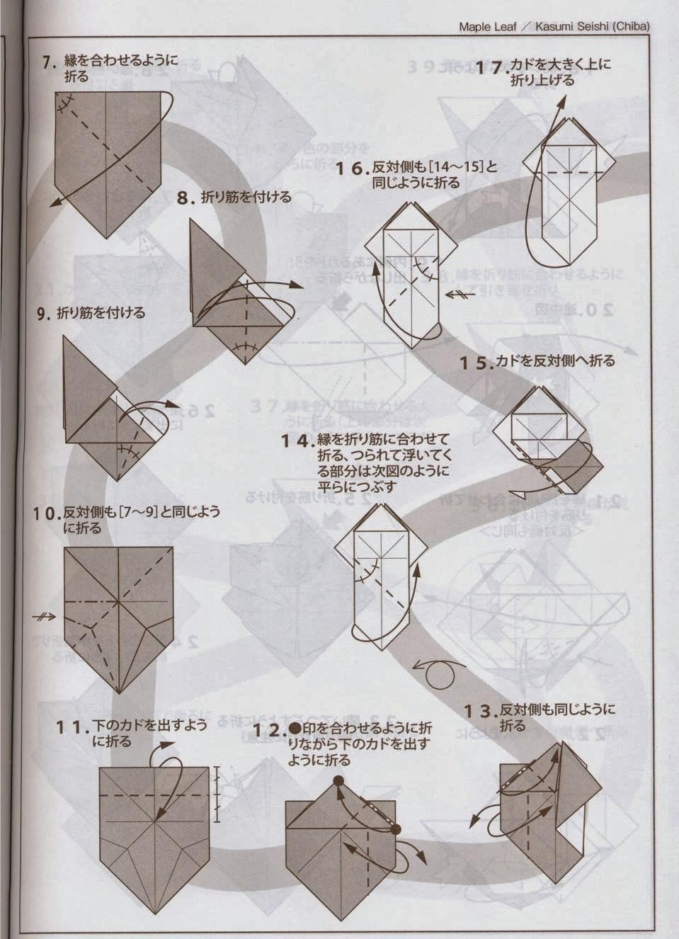 Maple Leaf Kasumi Seishi Ver225 2 Origami Pinterest Kusudama Diagrams