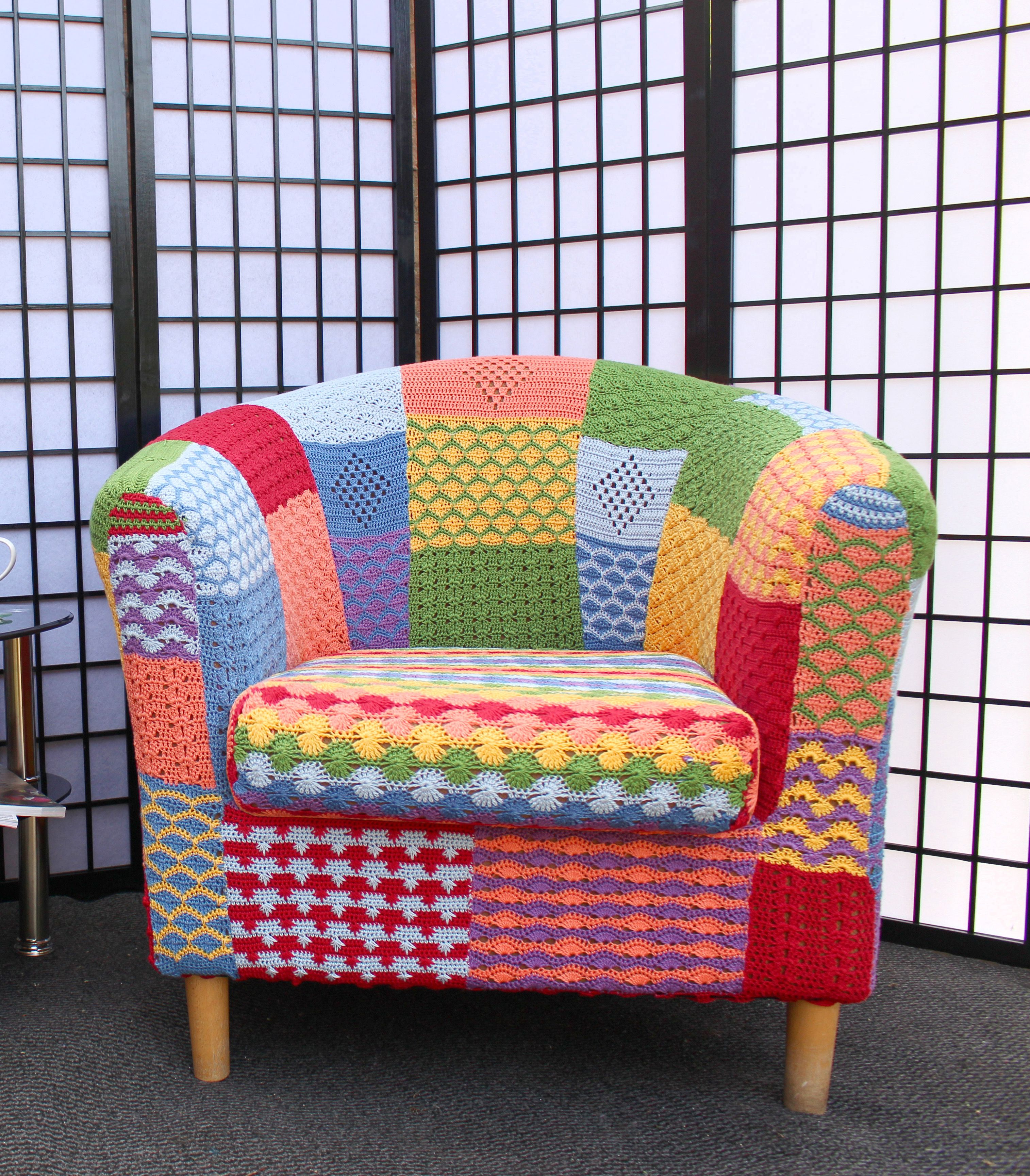 Crochet Tub Chair Cover Chair back covers, Chair, Funky