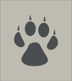 Empreinte Patte De Chien patte de chien. trace, empreinte. pochoir en vinyle adhésif. (ref