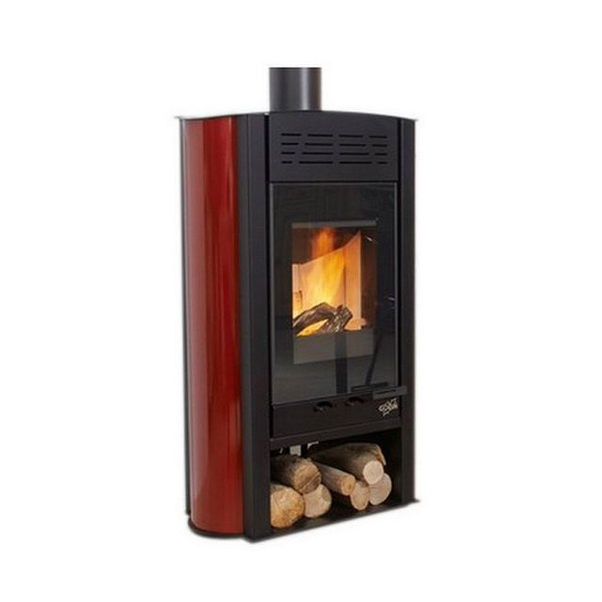 Poele A Bois Bbc Styldesign 5 Kw Cotes Emaille Carmin 400192carmin Nel 2019 Products Poele A Bois Bois E Poele