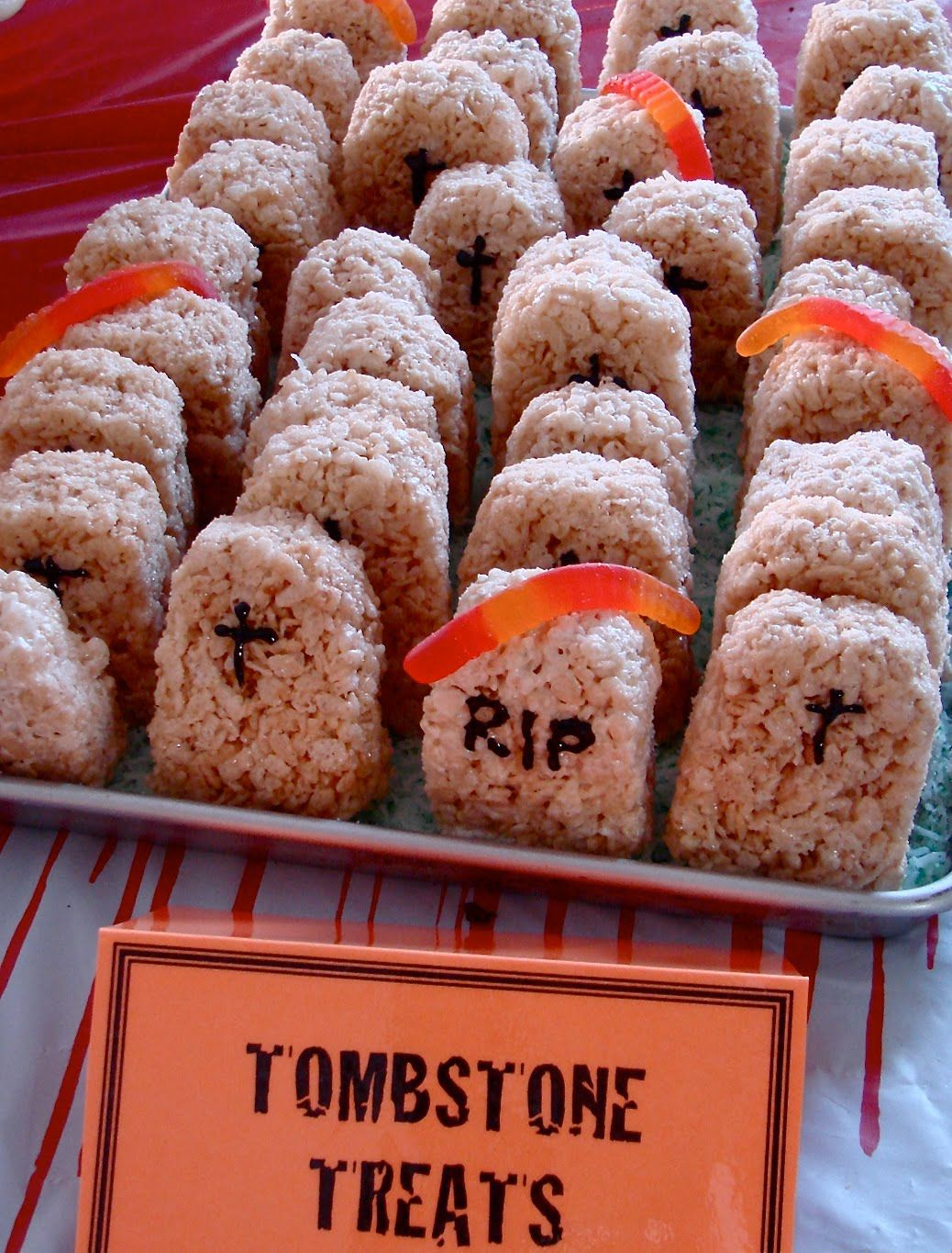 Tombstone Treats Ok This Is What I Am 100 Sure Making For The Chocochips Sully Dress White Halloween Party