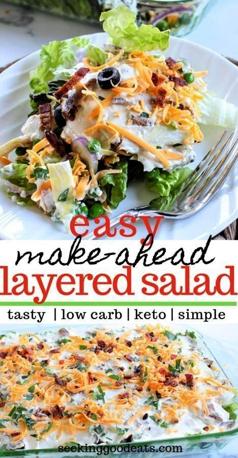 Salad Layered Overnight Salad with Mayonnaise A simple makeahead recipe this low carb layered salad is perfect for a weeknight dinner or a party Its keto friendly and you...