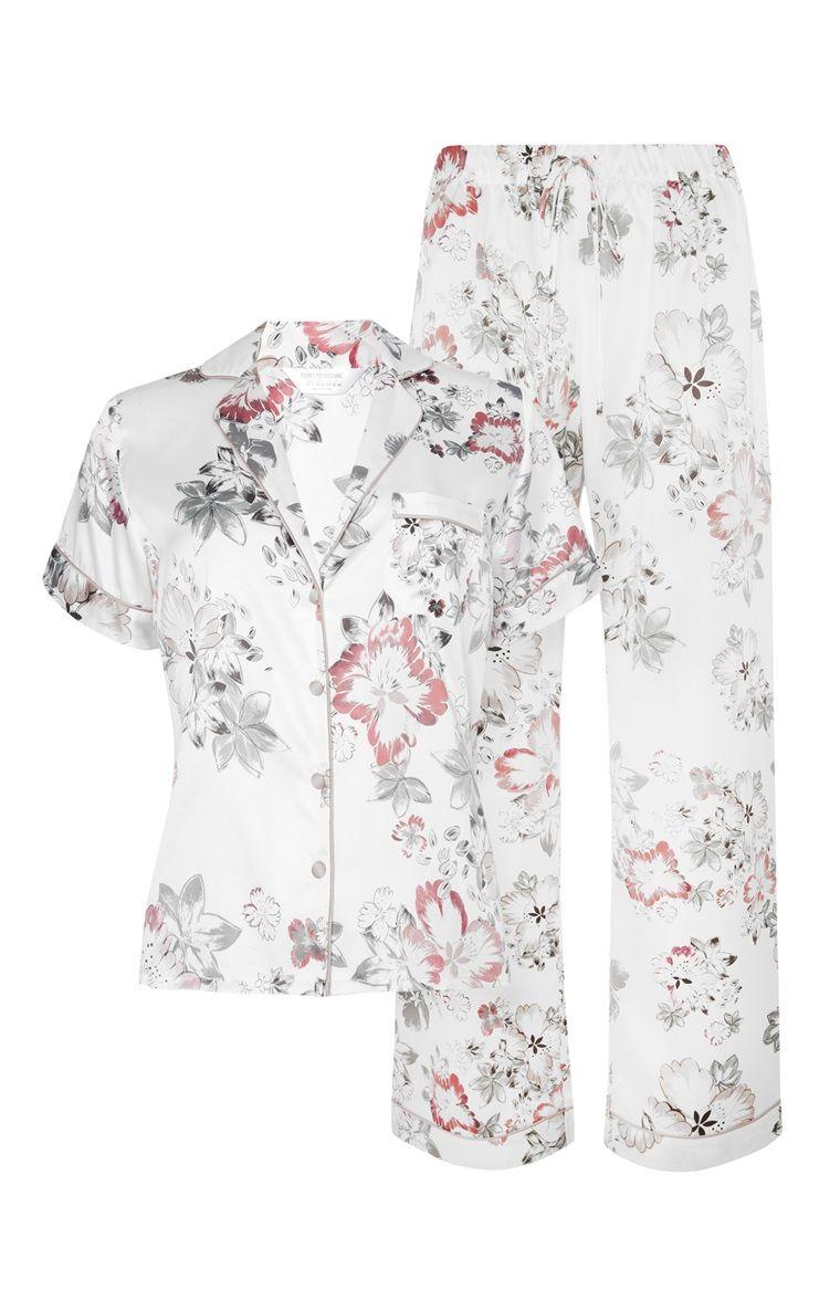 f5c05a6b3 Primark Satin Floral Pyjama Set