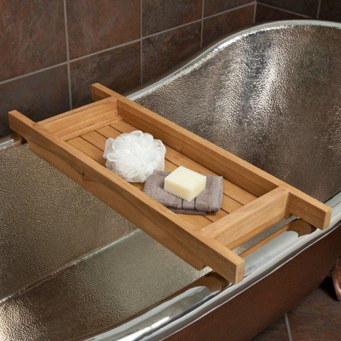 Teak Tub Caddy Clawfoot Tub Accessories Bathroom Accessories