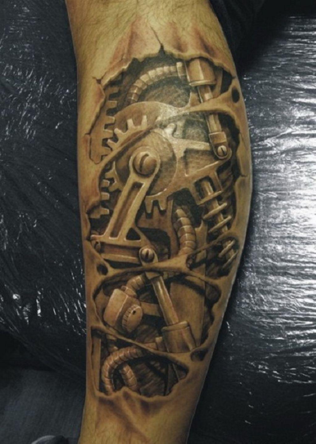 35 Amazing 3d Tattoo Designs Ripped Skin Tattoo Cyborg Tattoo