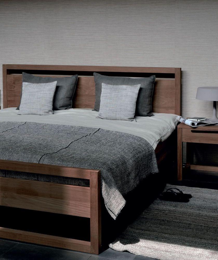 ETHNICRAFT Teak Light Frame Bed Bed frame, Bedroom