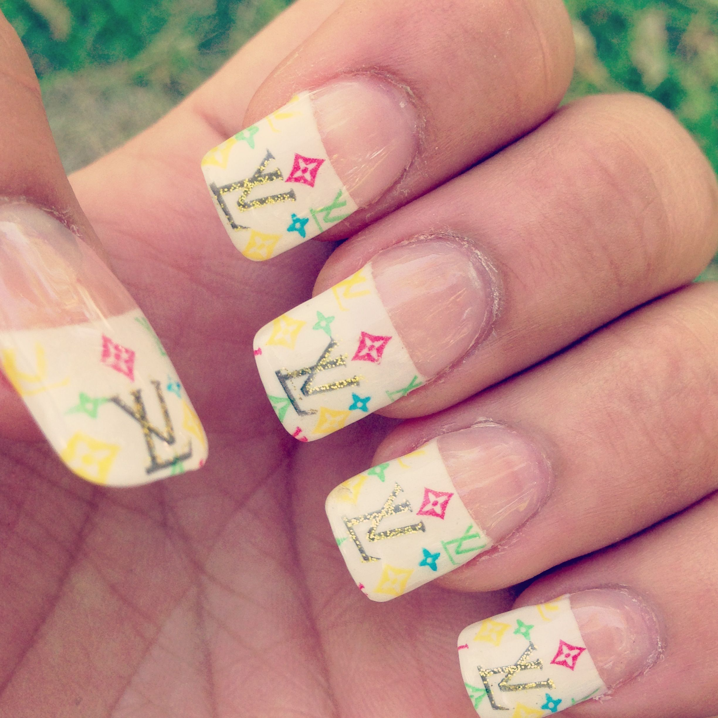 My new LV nails..a sophisticated idea from my nail tech\'s 10-year ...