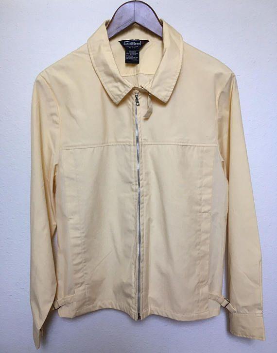 Vintage Yellow Jacket Men M Medium 60s Mod Jacket 1960s Yellow Windbreaker Jacket 70s Men Jacket 197 Yellow Windbreaker Mod Jacket Vintage Clothing For Sale