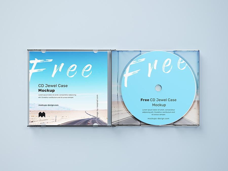 Free cd mockup psd