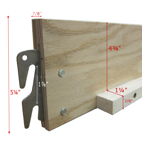 Wood Bed Rails for Twin/Full Size Pair Wood bed frame