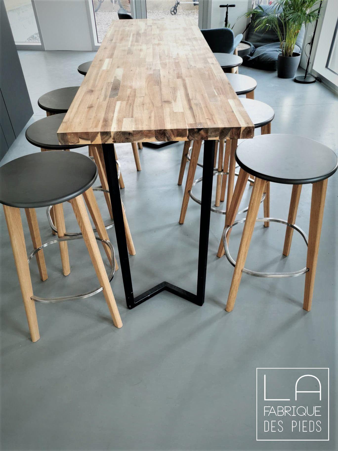 Pied Pour Console M 90 Cm La Fabrique Des Pieds En 2020 Table Haute Mange Debout La Fabrique Des Pieds Table Haute