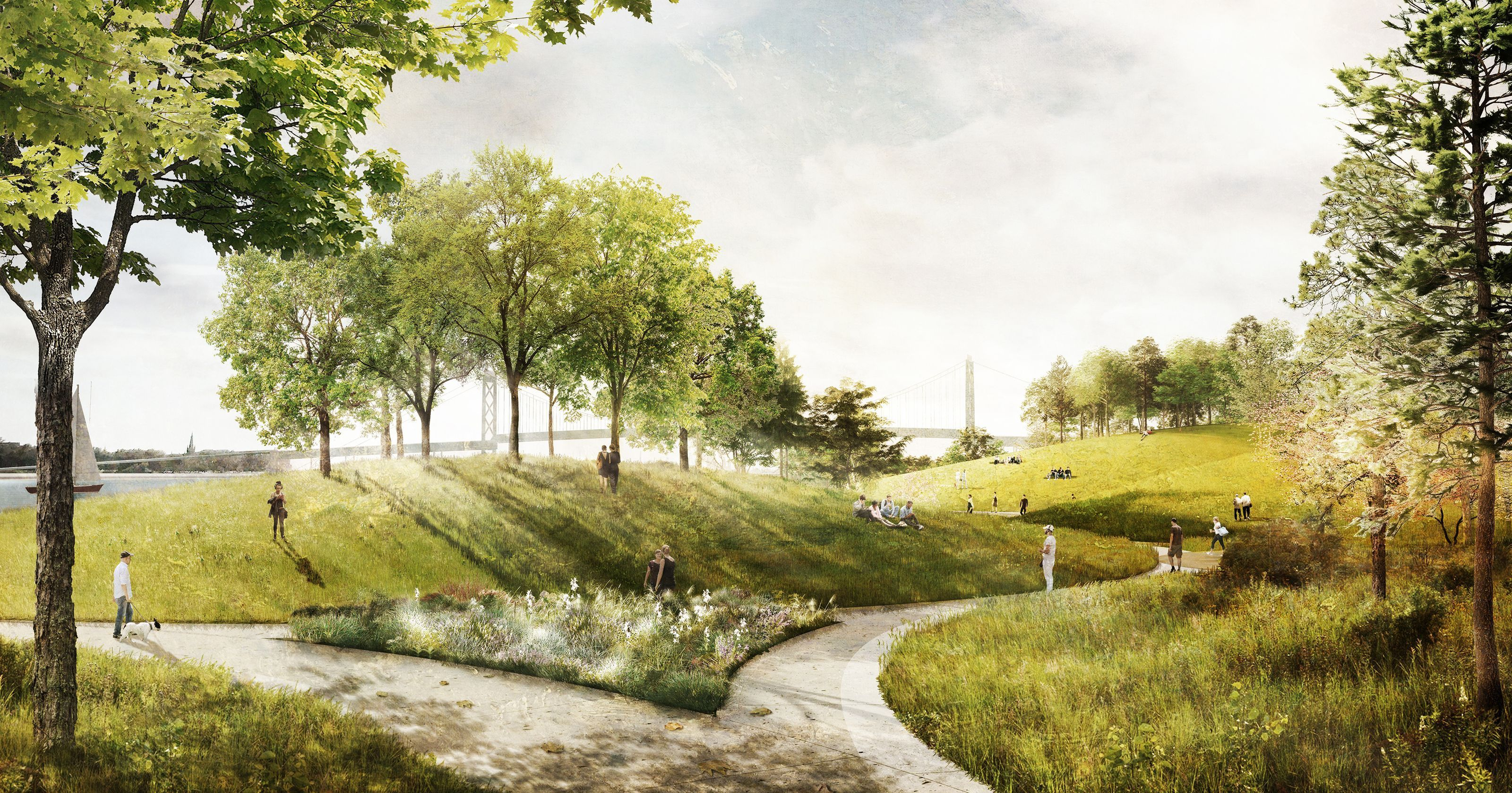 Riverfront park likely to return hills and mounds to Detroit\'s ...