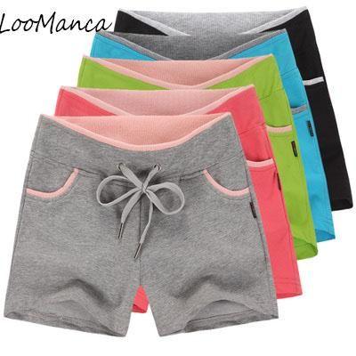 Casual Women Shorts Summer Korea Style Fashion 100% Cotton Drawstring  Female Fitness Short Ladies Shorts Plus Size M-4xl 36f389df90