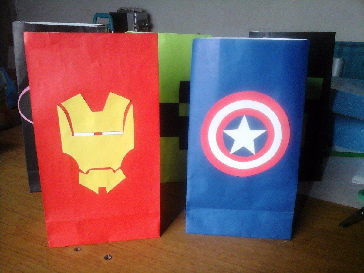6725fb24c Bolsitas Golosineras Iron Man Capitan America - $ 50,00 en MercadoLibre