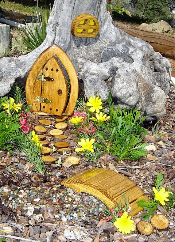 Miniature Garden Fairy Door Gnome Door Hobbit Door Elf By