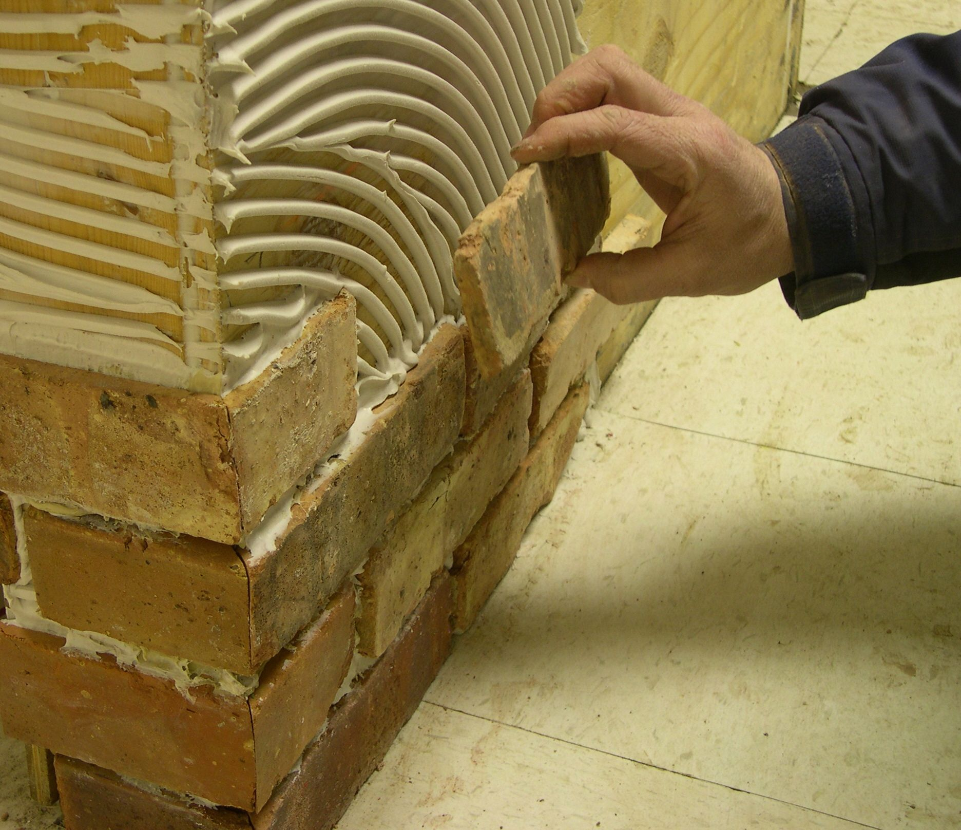Iu0027d Like To Put Brick Veneer On An Interior Wall Using Thin Brick Pieces,  Not Panels. Answer: Installing A Thin Brick Veneer Will Be Much.