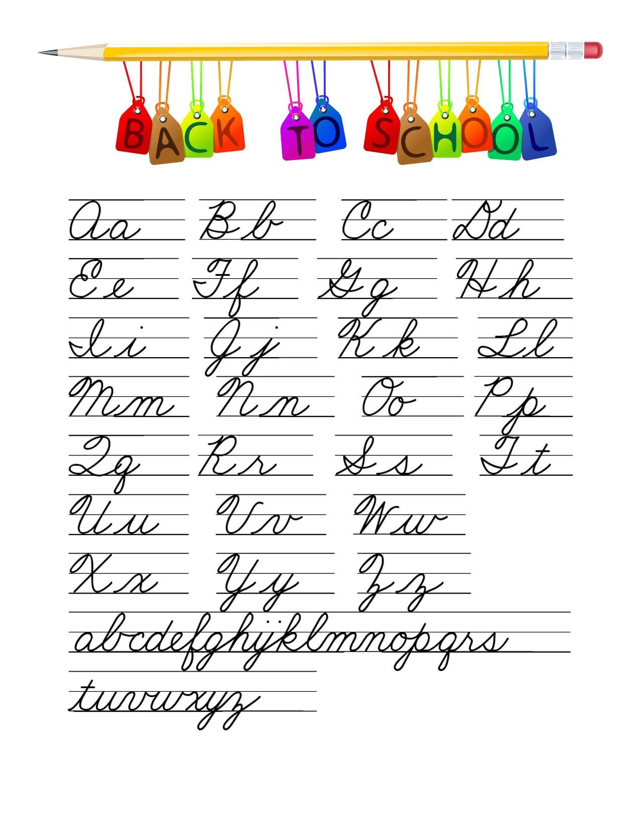 Cursive Handwriting Clipart