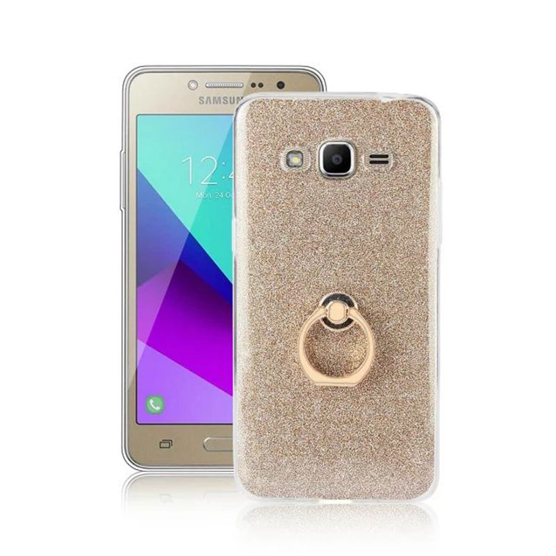 8b075f60270 Ring Holder Cases For Samsung Galaxy J2 Prime Bling Glitter Case Soft  Silicon TPU Phone Back