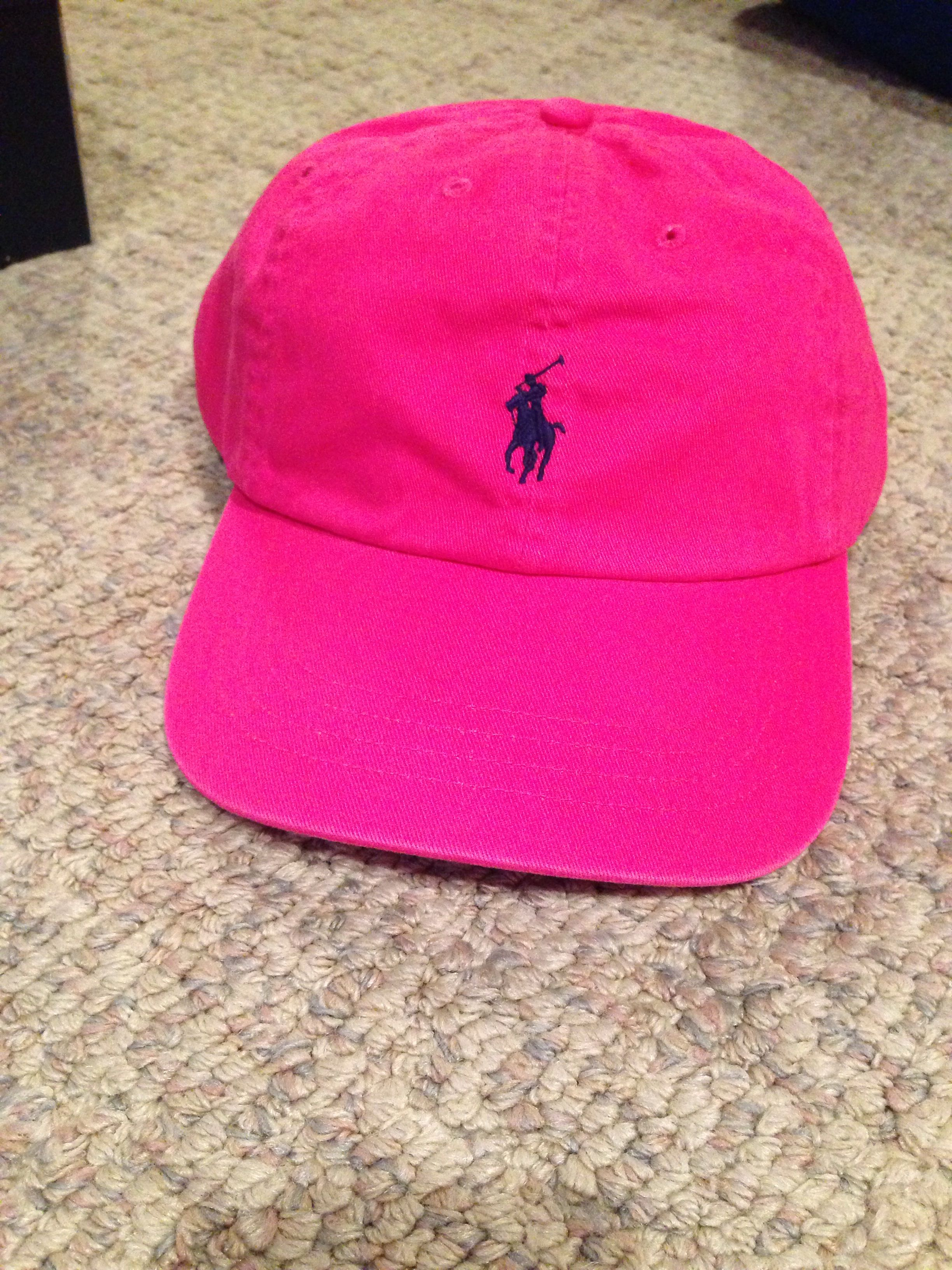 Hot pink polo hat  70a035d95c5