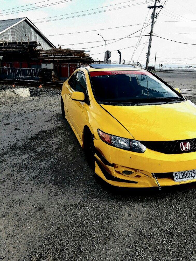 Honda Civic Si 2007 Rio Yellow S2000 Paint Carros