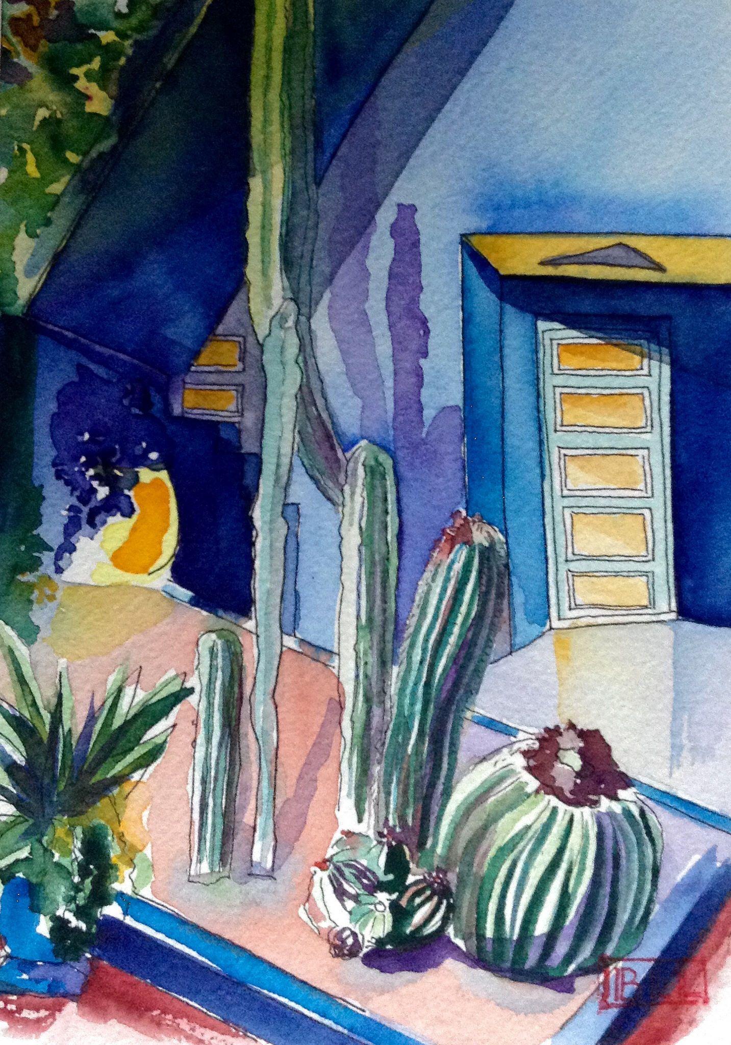 Jardin Majorelle Jardin Majorelle Peinture Painting