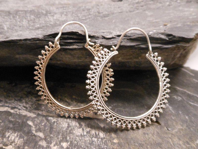 Ohrringe Creolen aus Silber von bs-masala auf DaWanda.com