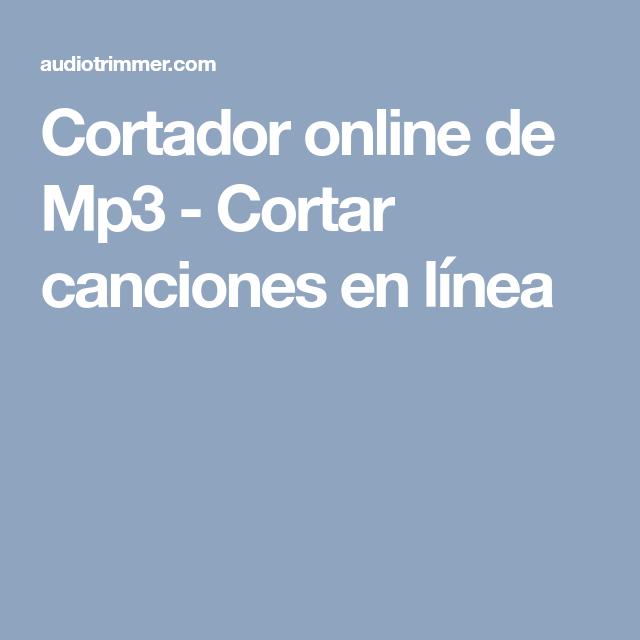 convertidor de mp3 en linea