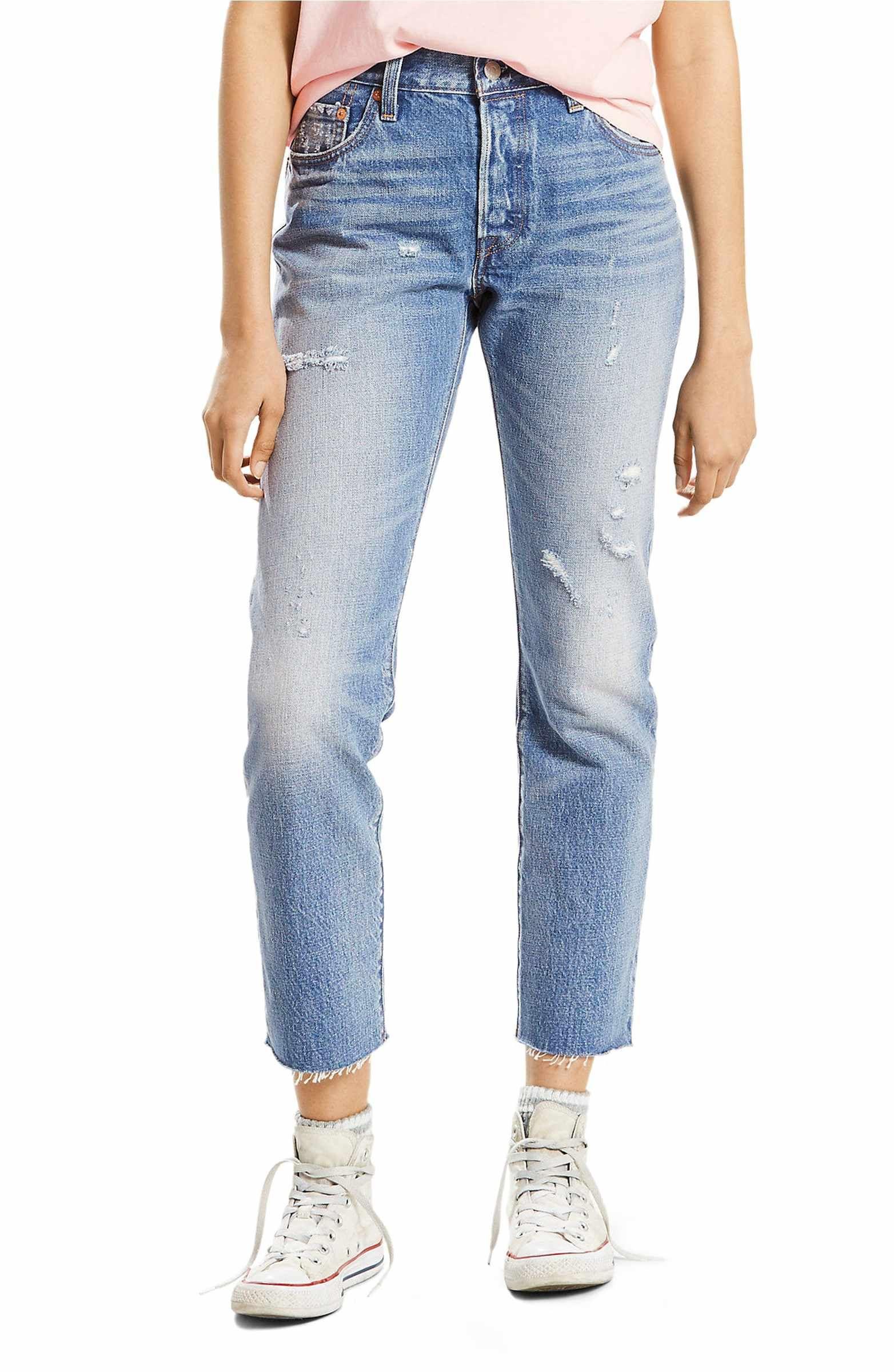 Main image levis 501 high waist straight leg jeans