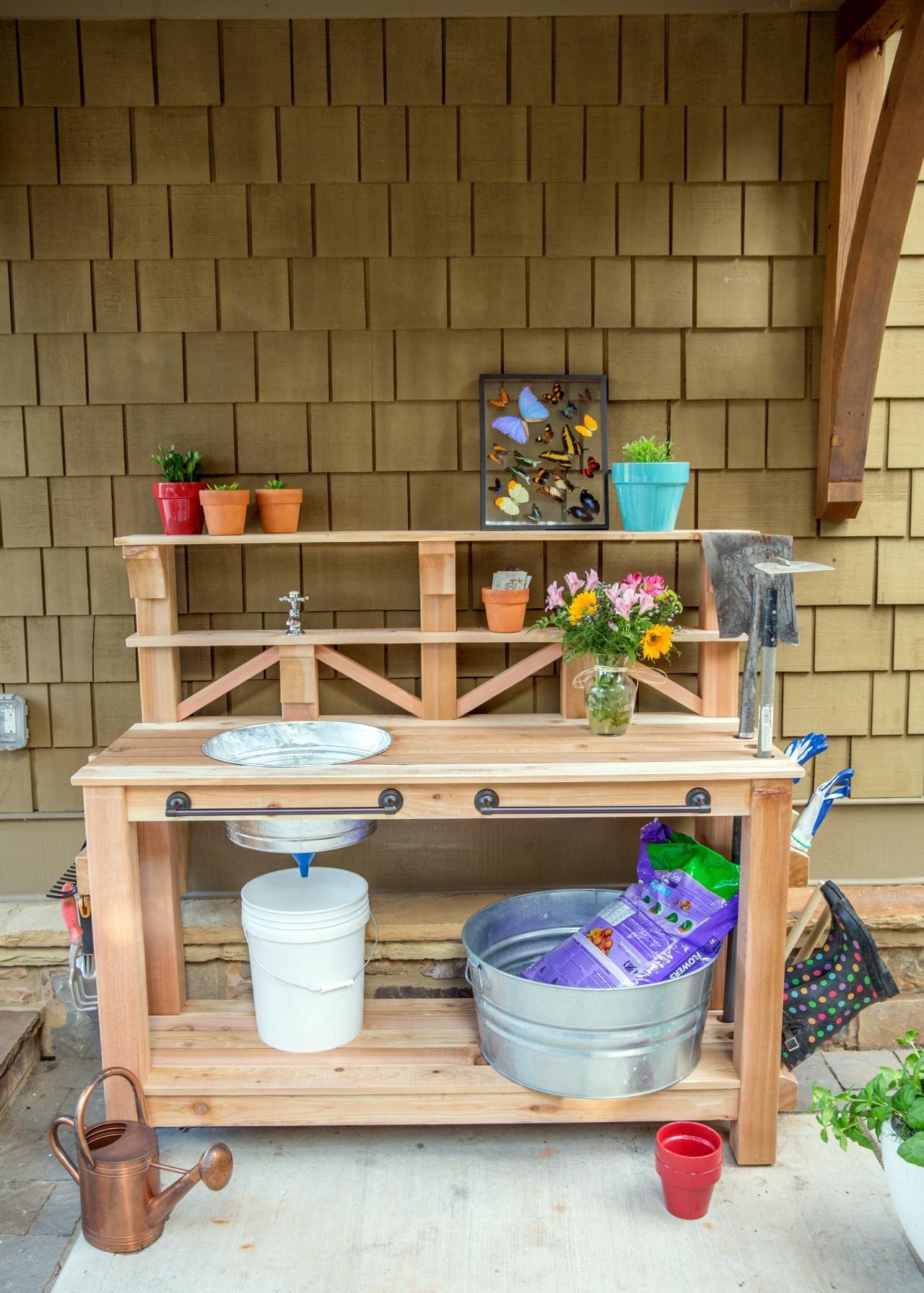 How to Make a Gardener's Potting Bench Diy toy storage