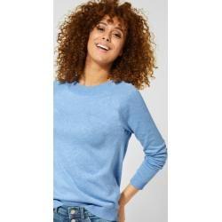 Photo of Street One – Unifarbener Pullover Gundi in Classy Blue Melange Street OneStreet One